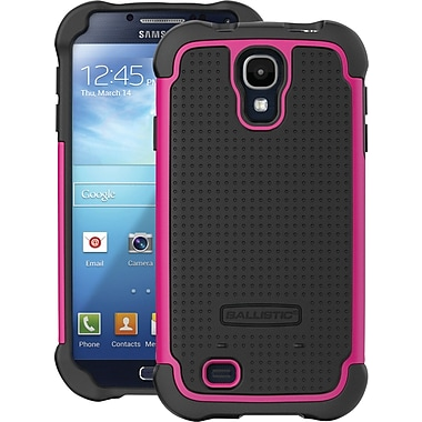 Ballistic SG Case for Samsung Galaxy S4, Black/Black/Hot Pink
