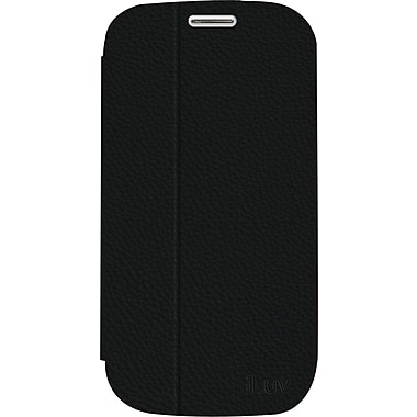 iLuv Bolster L Cover and Stand With Multiple Viewing Angles for Samsung Galaxy S4, Black