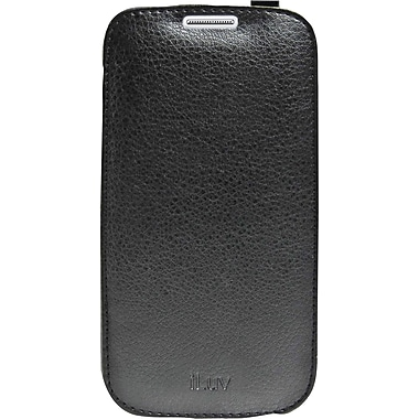 iLuv Premium Leather Flip Case for Samsung Galaxy S4, Black