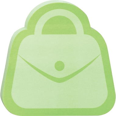 Post-it® Purse-Shaped Die-Cut Memo Cube, 2 Pads/Pack