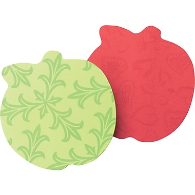 Post-it® Apple-Shaped Die-Cut Memo Cube, Each