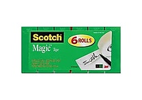 Scotch® Magic™ Tape 810, 3/4' x 800 in, 6/Pack