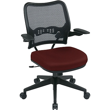 Office Star SPACE Fabric Computer and Desk Office Chair, Fixed Arms, Burgundy (13-7N1P3-227)