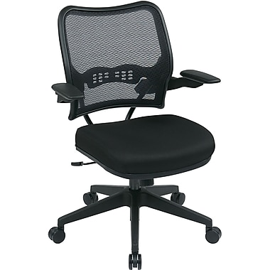Office Star SPACE Fabric Computer and Desk Office Chair, Fixed Arms, Black (13-7N1P3-231)