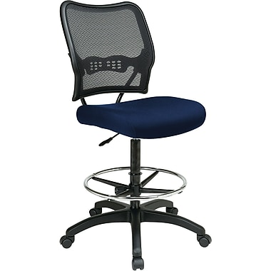 Office Star Space® Fabric Air Grid® Back Deluxe Drafting Chair, Navy