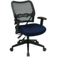 Office Star Space® Mesh/Polyester Deluxe Task Chair, Navy