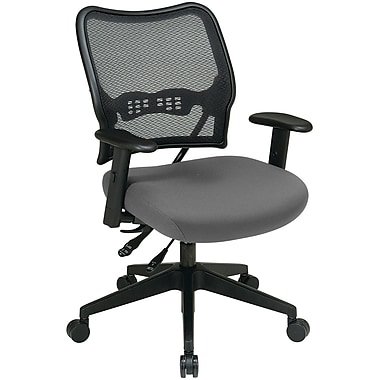 Office Star Space® Mesh/Polyester Deluxe Task Chair, Gray/Silver