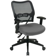 Office Star Space Seating Mesh Mid-Back Task Chair, Adjustable Arms, Gray