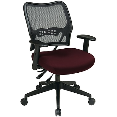 Office Star Space® Mesh/Polyester Deluxe Task Chair, Burgundy