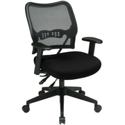 Office Star Mid-Back Fabric Executive Chair, Adjustable Arms, Black