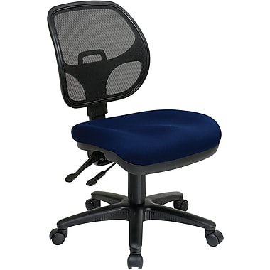 Office Star 2902-225 Pro-Line II Fabric Armless Task Chair, Navy