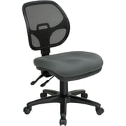 Office Star 2902-226 Pro-Line II Fabric Armless Task Chair, Gray