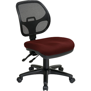 Office Star 2902-227 Pro-Line II Fabric Armless Task Chair, Burgundy