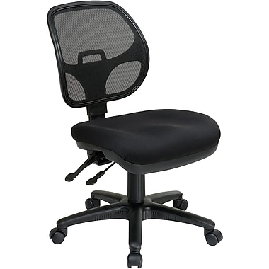 Office Star Pro-Line II Ergonomic Fabric Task Chair, Armless, Black