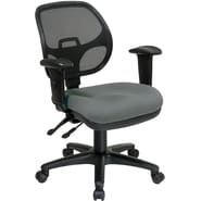 Office Star Ergonomic Metal Task Chair with ProGrid® Back and Adjustable Arm, Gray