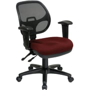 Office Star Ergonomic Metal Task Chair with ProGrid® Back and Adjustable Arm, Burgundy