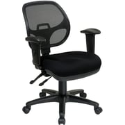 Office Star Ergonomic Metal Task Chair with ProGrid® Back and Adjustable Arm, Black