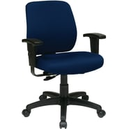 Office Star WorkSmart™ FreeFlex® Fabric Deluxe Task Chair with Ratchet Back and Arm, Navy