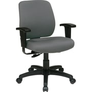 Office Star WorkSmart™ FreeFlex® Fabric Deluxe Task Chair with Ratchet Back and Arm, Gray