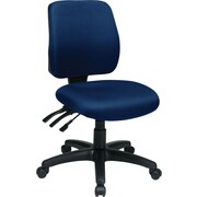 Office Star WorkSmart™ FreeFlex® Fabric Mid Back Ergonomic Task Chair without Arm, Navy