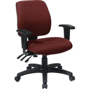 Office Star WorkSmart™  FreeFlex® Fabric Mid Back Ergonomic Task Chair with Arm, Burgundy
