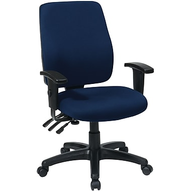 Office Star WorkSmart™  FreeFlex® Fabric High Back Ergonomic Task Chair with Arm, Navy