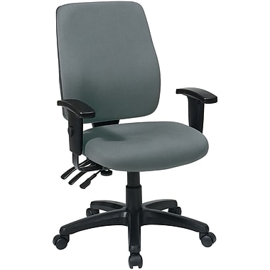 Office Star WorkSmart™  FreeFlex® Fabric High Back Ergonomic Task Chair with Arm, Gray