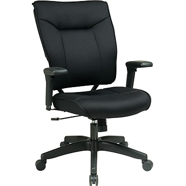 Office Star 37-33N1A7U Space Seating Mesh Executive Chair with Adjustable Arms, Black
