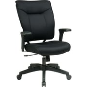 Office Star Space® Mesh Professional Executive Chair with PU Padded Arm, Black