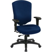 Office Star WorkSmart™ Fabric Executive Chair with Ratchet High Back and Adjustable Arm, Navy