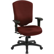 Office Star WorkSmart™ Fabric Executive Chair with Ratchet High Back and Adjustable Arm, Burgundy