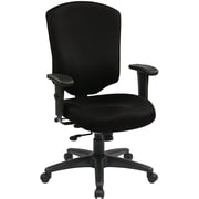 Office Star 41572-231 Work Smart Fabric High-Back Executive Chair with Adjustable Arms, Black