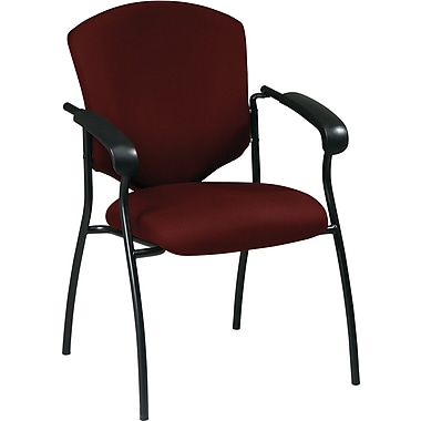 Office Star WorkSmart™ Fabric Executive Guest Chair with Arm, Burgundy