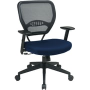 Office Star 55-7N17-225 Space Seating Fabric Managers Chair with Adjustable Arms, Carbon