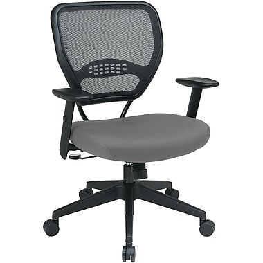 Office Star 55-7N17-226 Space Seating Fabric Managers Chair with Adjustable Arms, Azul