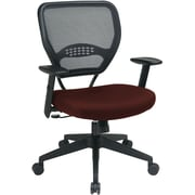 Office Star Space® Fabric Professional Air Grid® Back Manager Chair, Burgundy Fabric Seat