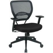 Office Star Space® Fabric Professional Air Grid® Back Manager Chair, Black Fabric Seat