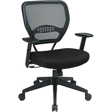 Office Star 55-7N17-231 Space Seating Fabric Managers Chair with Adjustable Arms, Black