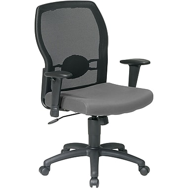 Office Star WorkSmart™ Polyester Woven Mesh Back Task Office Chair, Gray