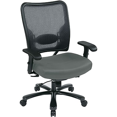 Office Star Space® Gunmetal Big and Tall Office Chair, Gray