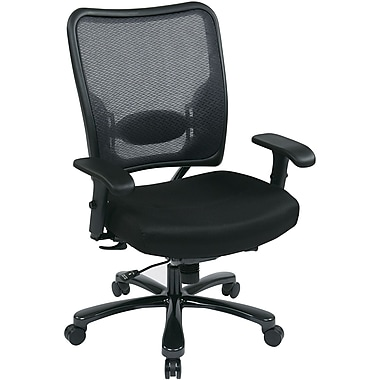 Office Star Space® Gunmetal Task Office Chair, Black