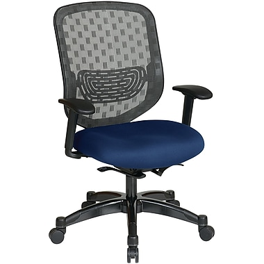 Office Star Space® Gunmetal Executive Office Chair, Navy
