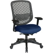 Office Star SPACE Fabric Executive Office Chair, Fixed Arms, Navy (829-R2C728P-225)