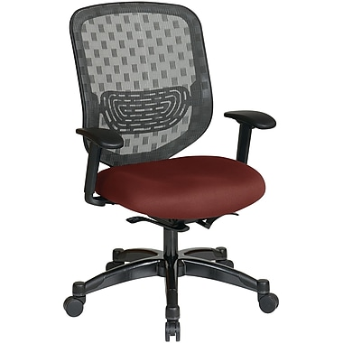 Office Star Space® Gunmetal Executive Office Chair, Burgundy