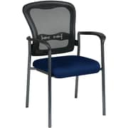 Office Star Proline II® ProGrid® Back Guest Chair with Arm and Titanium Finish, Navy