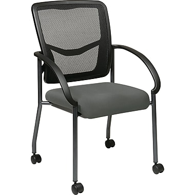 Office Star Proline II® ProGrid® Back Fabric Visitor's Chair with Arm, Gray