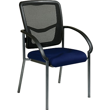 Office Star Proline II® ProGrid® Back Fabric Guest Chair, Navy