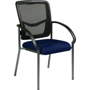 Office Star Proline II ProGrid Metal Guest Chair, Navy (85670-225)