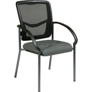 Office Star Proline II ProGrid Metal Guest Chair, Gray (85670-226)