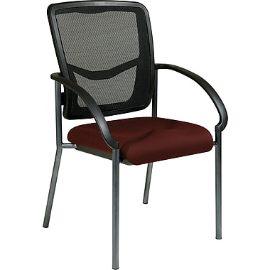 Office Star Proline II® ProGrid® Back Fabric Guest Chair, Burgundy